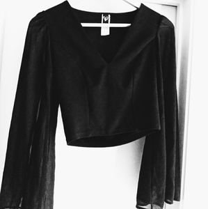 Windsor women black top long sleeves